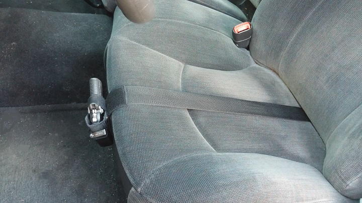 Car And Truck Seat Holster With Strap Concealed Support