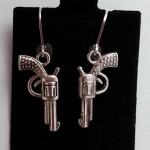 pistol earrings CS